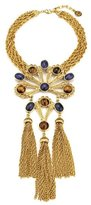 Ben-Amun Gypset Large Gold Necklace with Pendant and Three Tassels