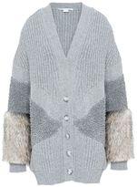 Stella McCartney fur free fur v neck cardigan
