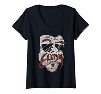 Womens Eagles of Death Metal Stache V-Neck T-Shirt