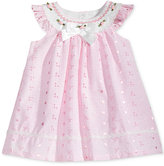 Bonnie Baby Flutter-Sleeve Eyelet Trapeze Dress, Baby Girls (0-24 months)
