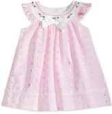 Bonnie Baby Flutter-Sleeve Eyelet Trapeze Dress, Baby Girls (0-24 months)