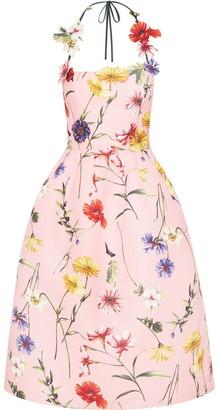 Oscar de la Renta Floral Halterneck Dress