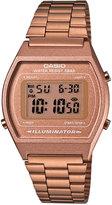 Casio Men's Digital Rose Gold-Tone Stainless Steel Bracelet Watch 39x35mm B640WC-5AMT