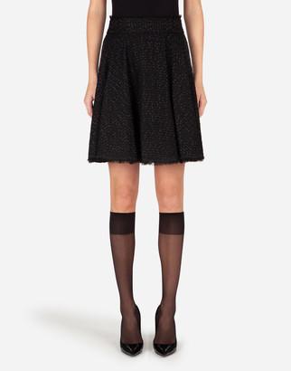 Dolce & Gabbana Short Boucle Tweed Skirt