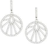 FANTASIA White CZ Crystal Round Drop Earrings