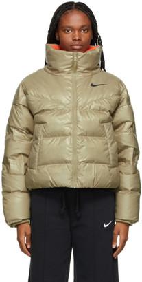 Nike Beige Down Puffer Jacket