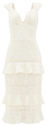 Johanna Ortiz Traduce Me Embroidered Cotton-voile Dress - Ivory