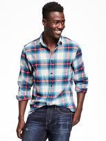 Old Navy Regular-Fit Plaid Flannel Shirt for Men