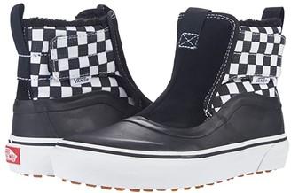 Vans Kids Slip-On Hi Terrain V MTE (Little Kid) ((Check 1/4) Black/True White) Kid's Shoes