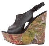 Alice + Olivia Platform Leather Wedges
