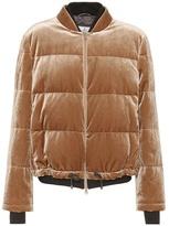 Brunello Cucinelli Padded velvet bomber jacket