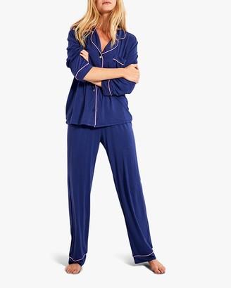 Stripe & Stare Navy Long Pajama Set