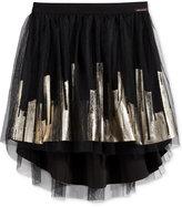 Sean John Printed Mesh High-Low Skirt, Big Girls (7-16)