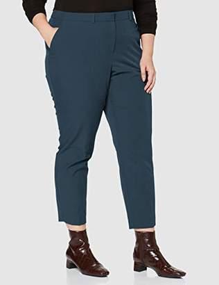 Dorothy Perkins Curve Women's Petrol Elastic Back Ankle Grazer Trousers,(Size:)