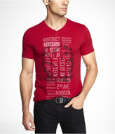 Express V-Neck Graphic Tee - Multi Sign Lion