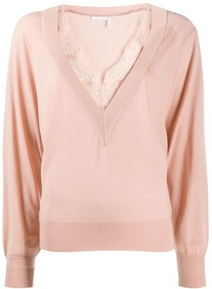 Chloé Lace Trim Jumper