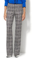 New York & Co. 7th Avenue Design Studio Pant - Signature - Universal Fit - Bootcut - Black Plaid - Tall