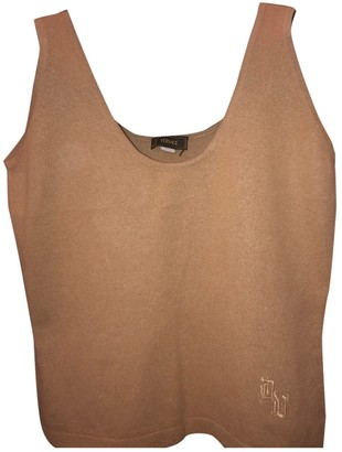 Versace Camel Cashmere Top for Women Vintage