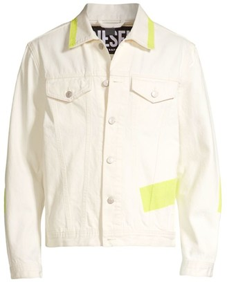 Diesel Nhill Neon Tape Denim Jacket