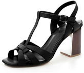 Lola Cruz Block Heel Sandal