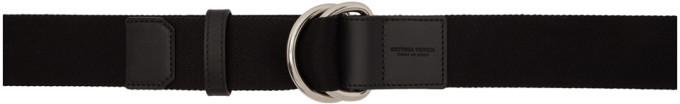 Bottega Veneta Black Double Ring Belt