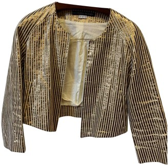 Les Prairies de Paris Metallic Linen Jacket for Women