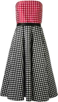 Tadashi Shoji Strapless Double Face Jacquard Gown