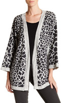 Cullen Animal Print Self-Tie Cardigan