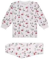 Kissy Kissy Red Bus Tour Print Pyjama Set