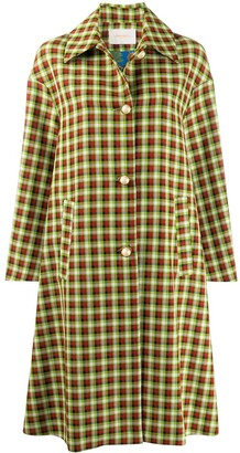 La DoubleJ x Mantero plaid boxy coat