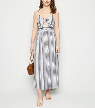 New Look Stripe Linen Look Midaxi Dress