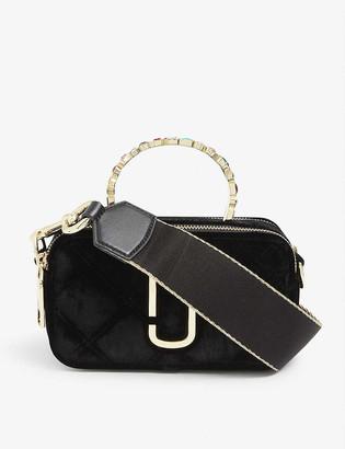 Marc Jacobs Snapshot velvet shoulder bag