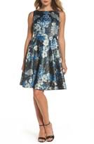 Tahari Petite Women's Floral Fit & Flare Dress