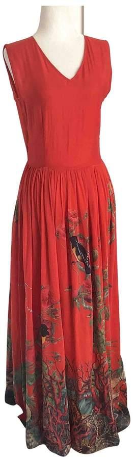 Carolina K. \N Red Cotton Dress for Women