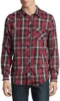 Hudson Men's Plaid Cotton Casual Button-Down Shirt