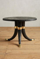 Anthropologie Wooden Tusk Side Table