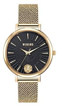 Versus By Versace Versus Women's Mar Vista Gold-Tone Stainless Steel Mesh Watch 34mm