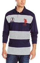 U.S. Polo Assn. Men's Long Sleeve Rugby Polo Shirt