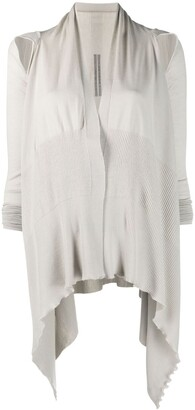 Rick Owens Slash Detail Knitted Cardigan