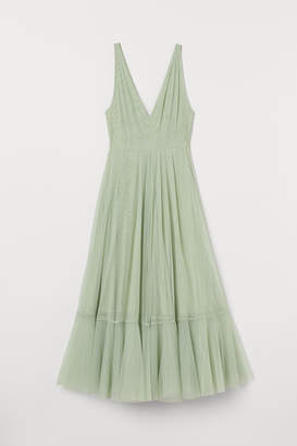 H&M V-neck tulle dress