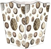 The Well Appointed House Sand Dollars Decoupage Wastebasket and Optional Tissue Box