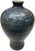 One Kings Lane Vintage Etched Chinese Dragon Vase