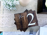 Etsy Wedding Double Sided Table Numbers, Horizontal Wooden Table Numbers, Rustic Table numbers, Wood Tabl