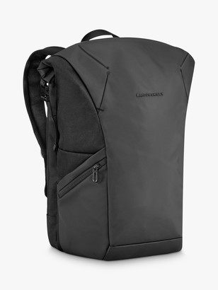 Briggs & Riley Delve Large Roll Top Backpack, Black