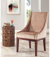 Safavieh En Vogue Dining Dark Champagne Sloping Arm Velvet Chair
