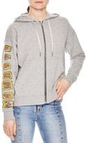 Sandro Ashram Embellished Zip-Up Hoodie