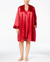 Thalia Sodi Plus Size Satin Wrap Robe, Only at Macy's