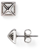 Rebecca Minkoff Pyramid Cut-Out Stud Earrings