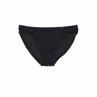 Hom Comfort Micro Briefs 'Chic' for Men - semi-Transparent Underwear - Black - Size XL
