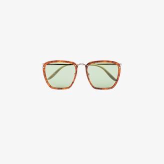Gucci Brown Havana square sunglasses